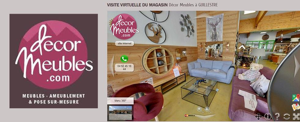 Visite Virtuelle 360° du magasin Decor Meubles Guillestre